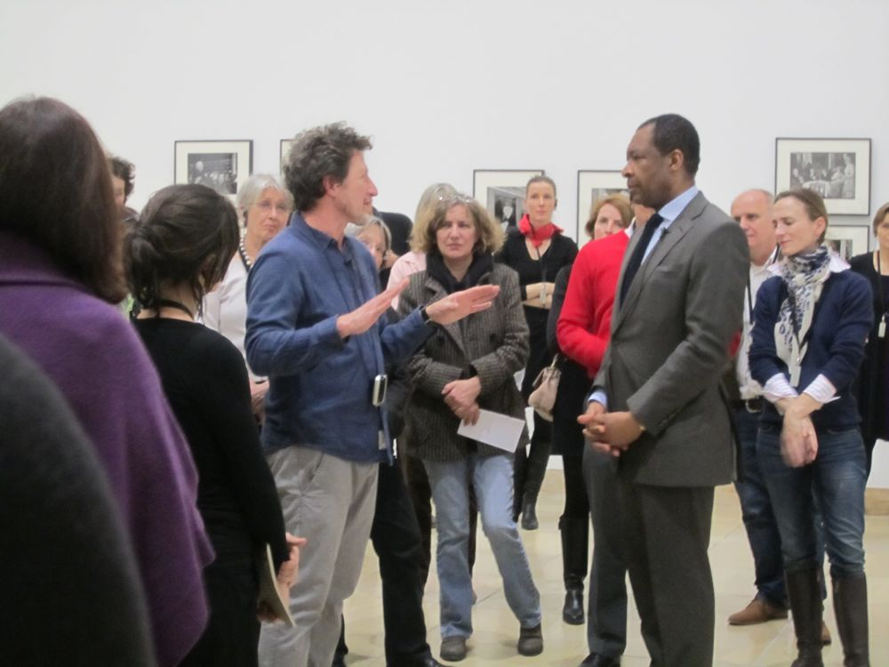 Gideon Mendel and Okwui Enwezor at Haus der Kunst.