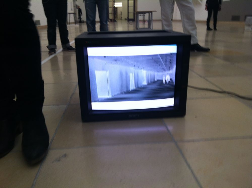 Video is a small but strong component of Joëlle Tuerlinckx's exhibition at Haus der Kunst.