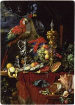 Still Life With Parrots, Still Life with Parrots Jan Davidz. de Heem 1606-1684