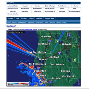 WFLA Channel 8 Radar Trouble