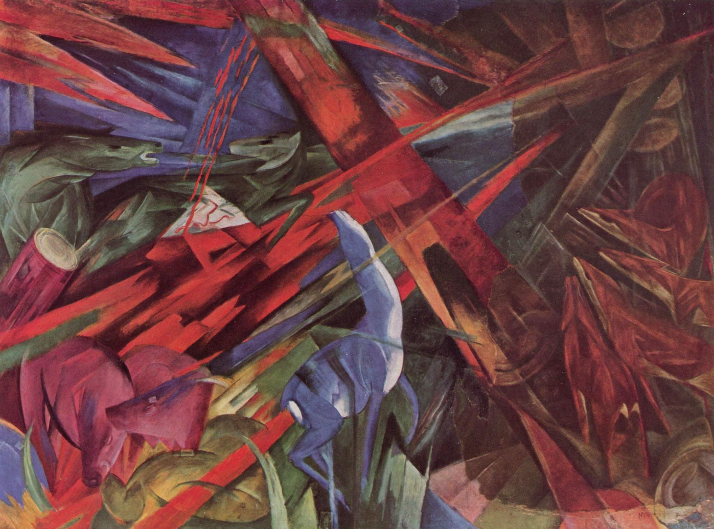 Tierschicksale, 1914, Franz Marc