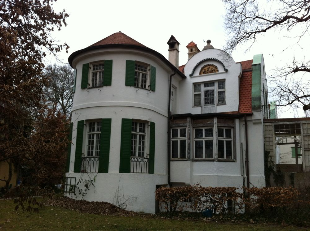 Franz Marc's family home in the München suburb of Pasing.
