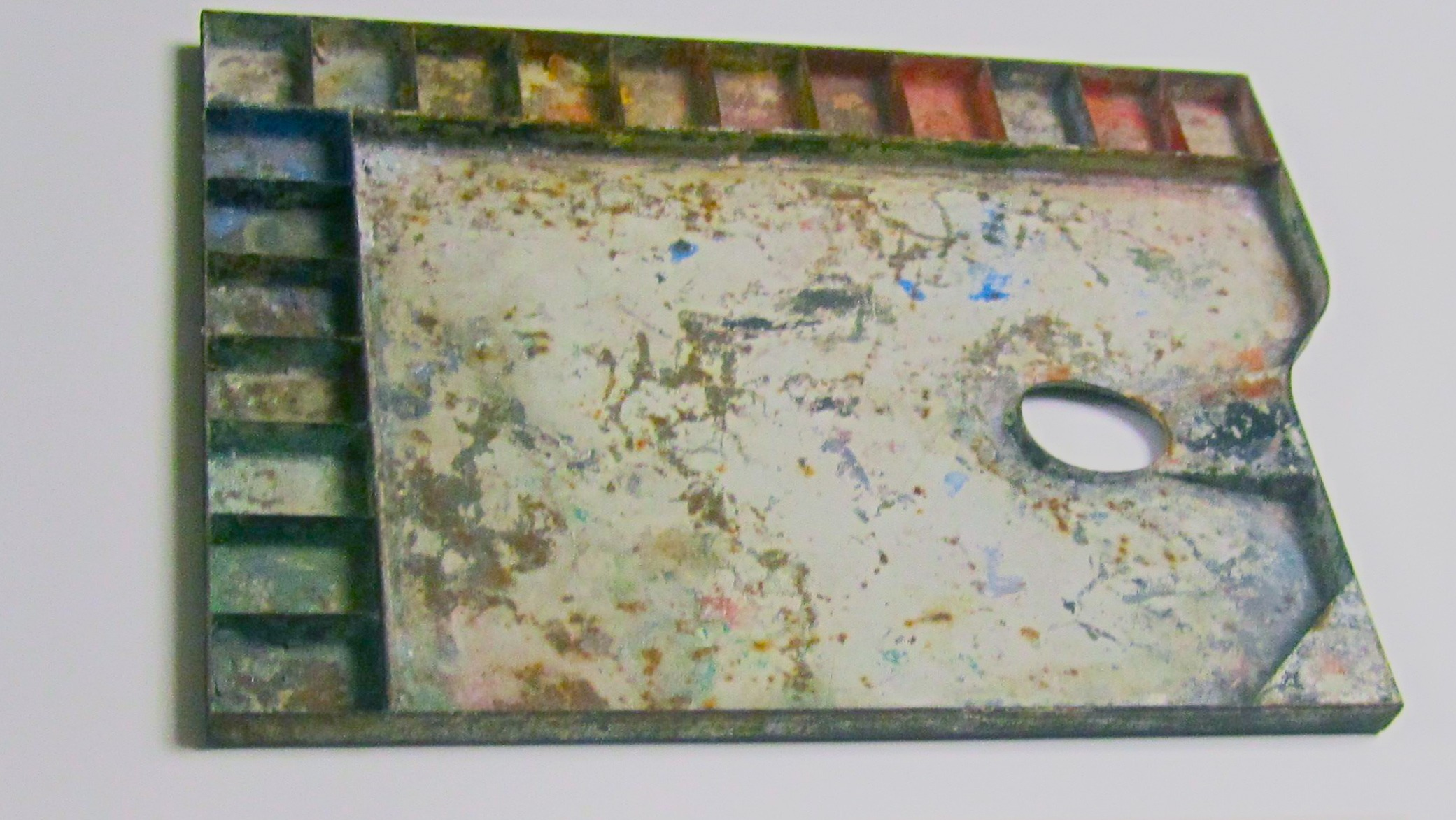 Franz Marc's palette, from the archives of the Franz Marc Museum, Kochel.