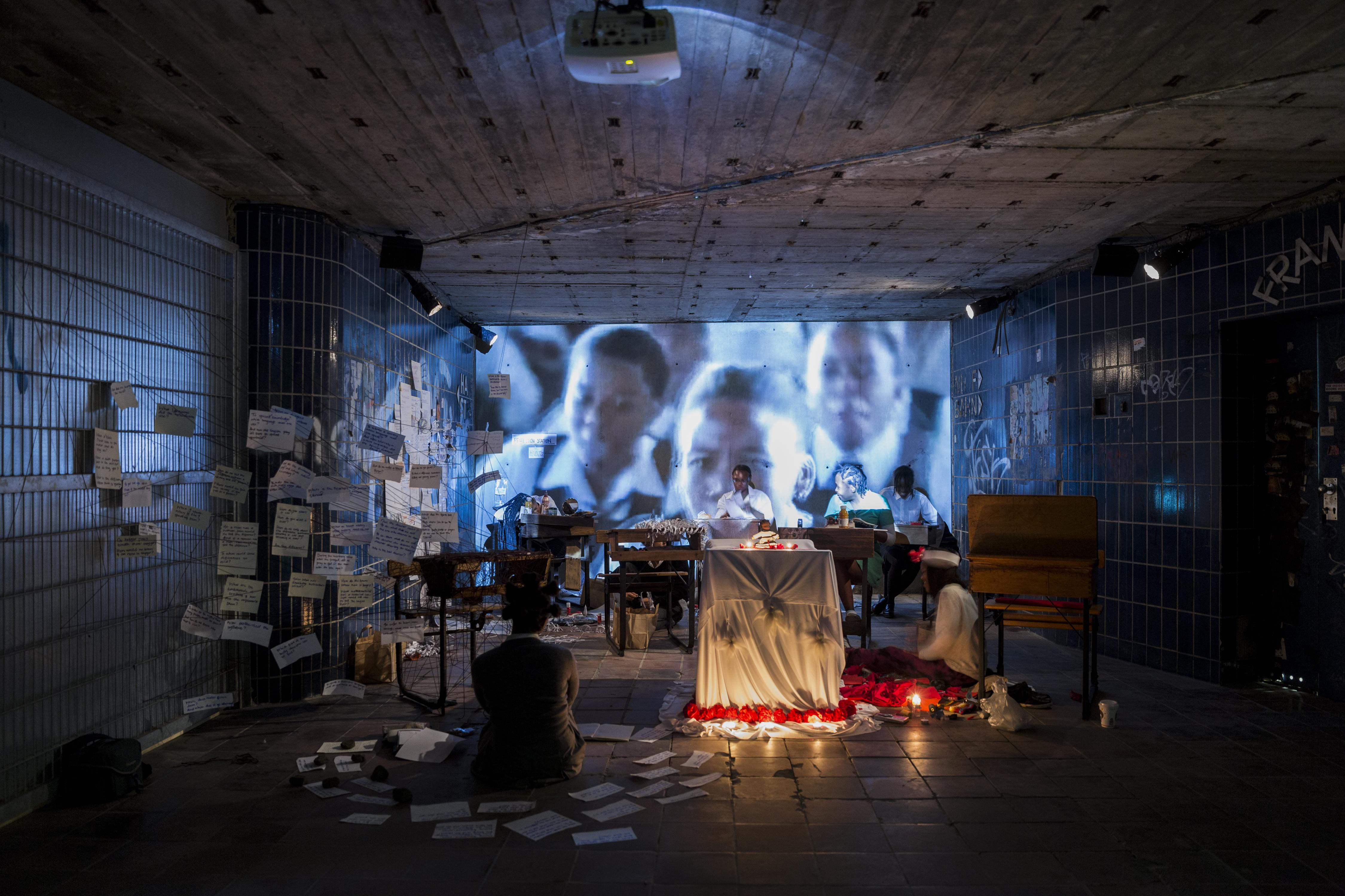 iQhiya, Monday, 2017, Performance und Installation, Ehemaliger unterirdischer Bahnhof (KulturBahnhof), Kassel, documenta 14, Foto: Fred Dott