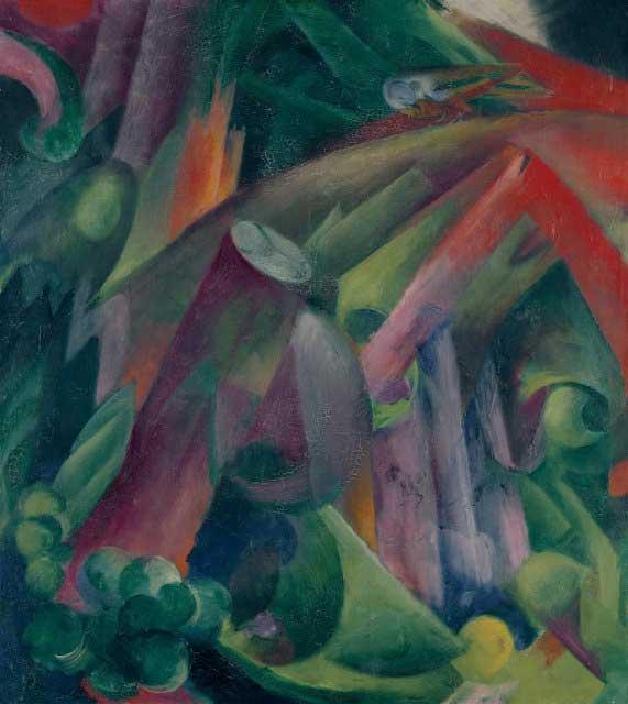 Gurlitt Hoard contained Franz Marc's Waldinneres mit Vogel (Taube)